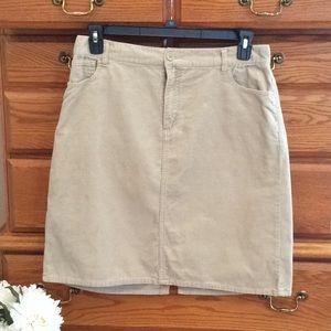 Basic Editions Tan Corduroy Skirt